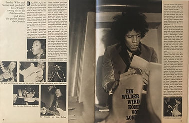jimi hendrix magazine 1967/ ok 3/4/1967
