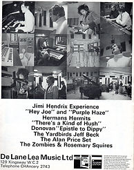 jimi hendrix magazine/beat instrumental ad studio