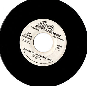 Promo/mono burning of the midnight lamp /jimi hendrix collector singles vinyls