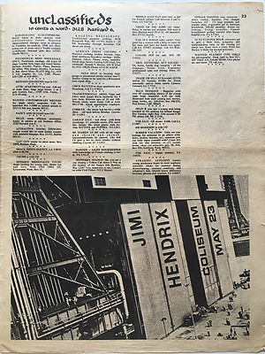 jimi hendrix newspaper 1969/helix may 23 1969