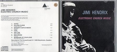 jimi hendrix cd bootleg 1969/electric church music  1988