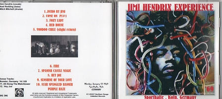 jimi hendrix bootleg cd /sporthalle koln germany  2007