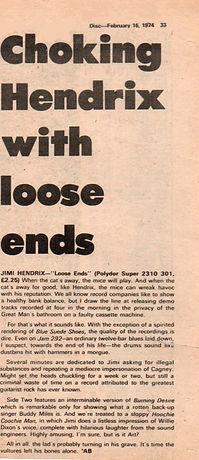 jimi hendrix newspapers / disc music echo : feb 16,1974