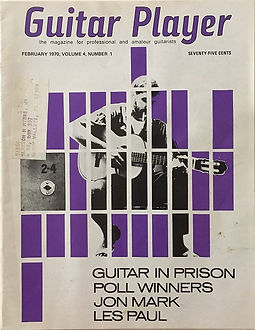 jimi hendrix magazines 1970 /guitar player february, 1970