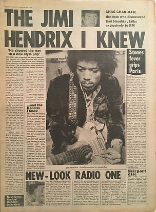 jimi hendrix newspapers: record mirror  September 26, 1970