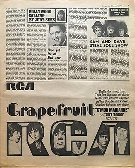 jimi hendrix newspaper/disc music echo july 13 1968