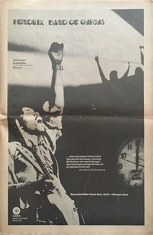 jimi hendrix newspapers 1970/ fusion  may 14, 1970,