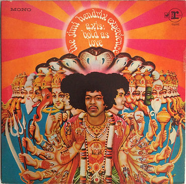 jimi hendrix collector rotily vinyls lp/axis bold as love mono usa 1968