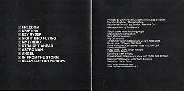 jimi hendrix cd album/cry of love /  1991