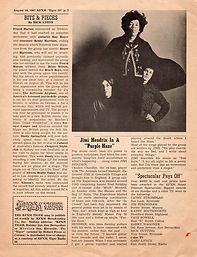 kfxm tiger radio 590/jimi hendrix newspaper 1967