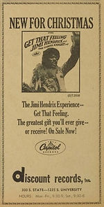 jimi hendrix newspapers 1968/the michigan daily :AD december 8, 1967