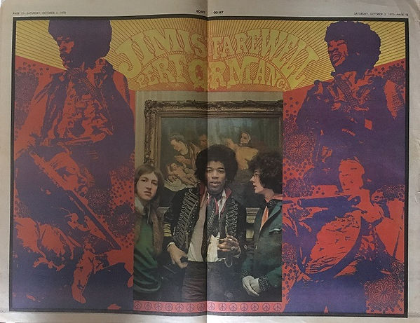 jimi hendrix newspapers: go set October 3, 1970  / poster