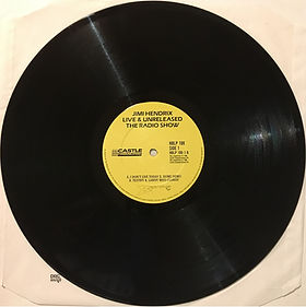 jimi hendrix vinyls album /  live & unreleased / castel records side 1