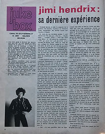 jimi hendrix magazines 1970 death/ juke box october 70 1970