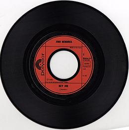 jimi hendrix singles reissue / hey joe 1975