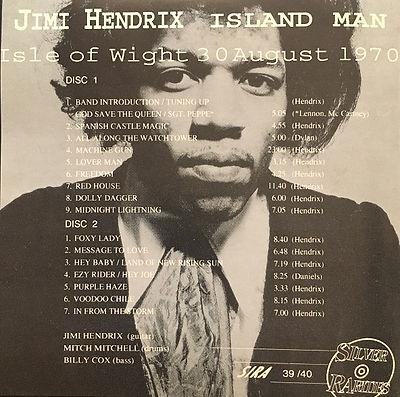 jimi hendrix bootlegs cd / island man 2cd