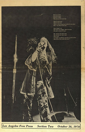 jimi hendrix newspapers 1970 / los angeles free press :  october 16  1970
