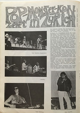 jimi hendrix magazine/sounds july 1968/pop monster konzert in zurich