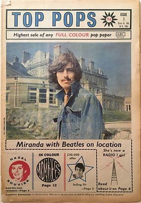 jimi hendrix collector newspapers/top pops october 1967 miranda sits-in on jimi's disc session