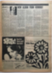 jimi hendrix newspaper 1968/record mirror november 30 1968  new album from hendrix!