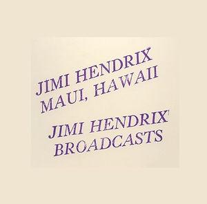 jimi hendrix bootlegs vinyls 1970 tmoq /  maui hawii / broadcast color