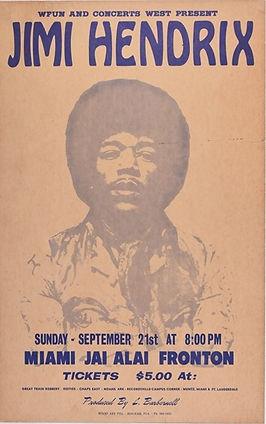 jimi hendrix memorabilia 1969/handbill concert cancelled