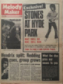 jimi hendrix newspapers 1969/melody maker july 5, 1969 hendrix split:....