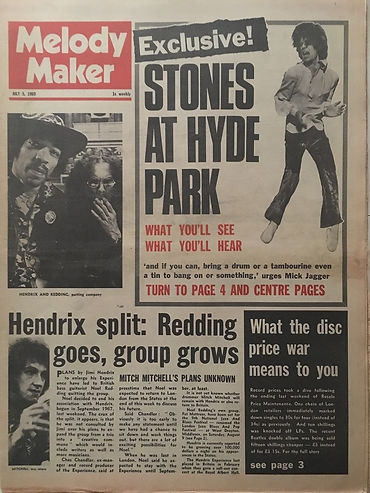 jimi hendrix newspapers 1969/melody maker july 5, 1969 hendrix split:....