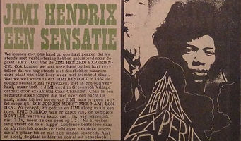 jimi hendrix newspaper 1967/hit week march 2 1967