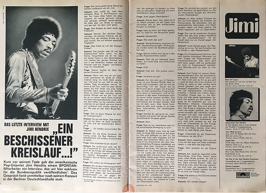 jimi hendrix magazines 1970 / spontan december 1970 : article