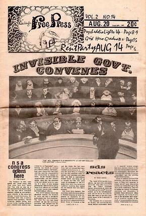 jimi hendrix neuspapers 1967 / waschigton free press aug.20, 1967