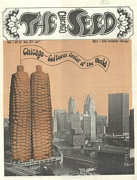 jimi hendrix collector newspaper/the chicago seed/ november 5 /24