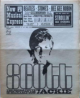 jimi hendrix collector newpaper/new musical express 2/12/1967