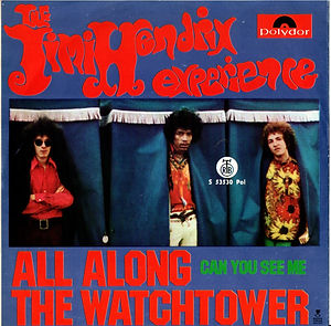 jimi hendrix collector singles 45t vinyls /all along the watchtower/can you see me  1968 yugoslavia