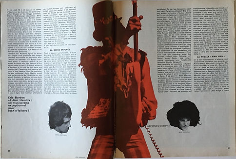 jimi hendrix magazine /rock & folk march 1968/burdon contre hendrix