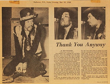 jimi hendrix newspapers/rochester.N.Y evening march 22 1968