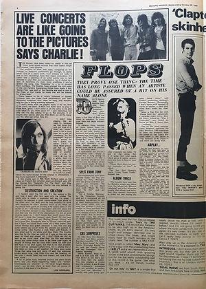 jimi hendrix newspapers 1969/record mirror october 25 1969