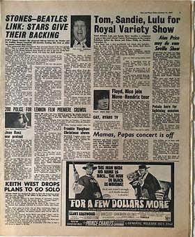 jimi hendrix collector newspaper/disc music echo 21/10/67 hendrix tour