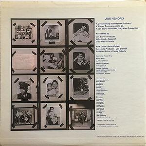 jimi hendrix vinyl album/jimi hendrix sound track from the film/ 1973 usa promotion
