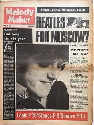 jimi hendrix newspaper/melody maker june 22 1968