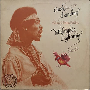 jimi hendrix vinyl album crash landing /midnight lightning 2 lp / 1978
