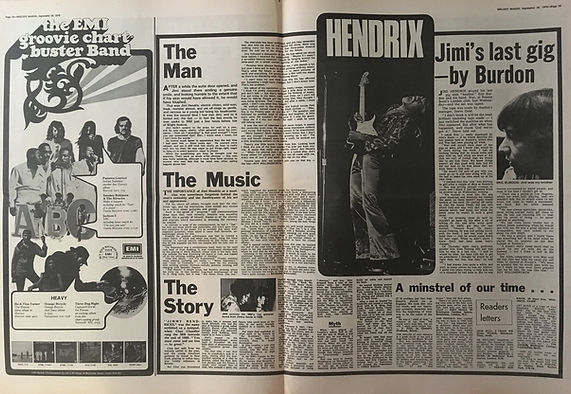 jimi hendrix newspapers: melody maker /  September 26, 1970