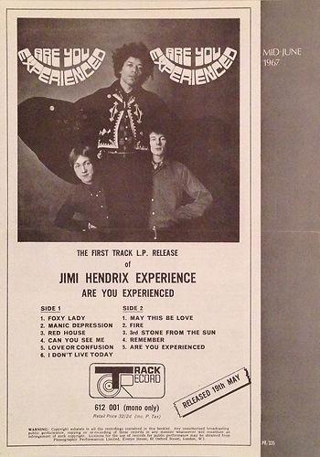 jimi hendrixmemorabili 1967/catalogue polydor