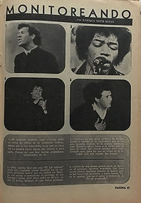 jimi hendrix magazines 1970 death/ idolos del rock october 1970