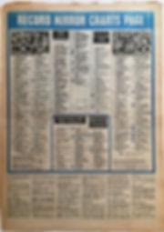 jimi hendrix newspaper 1969/ record mirror january 18 1969/top LPs
