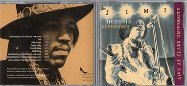 jimi hendrix bootlegs cds/dagger records live at clark university