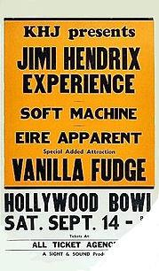 jimi hendrix memorabilia 1968 / flyer