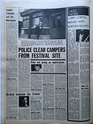 jimi hendrix newspapers/melody maker august 10 1968/british invasion for states