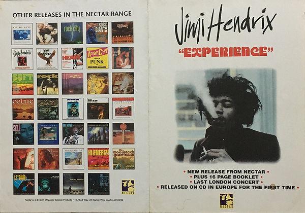 jimi hendrix memorabilia poster /  experience  : cd