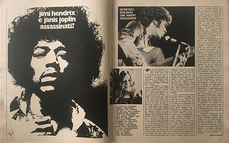 jimi hendrix magazines 1970 death :ciao 2001 / november 11, 1970